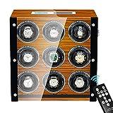 Jlxl 9 Remontoir Montre Automatique Boîte avec Télécommande Et Le...