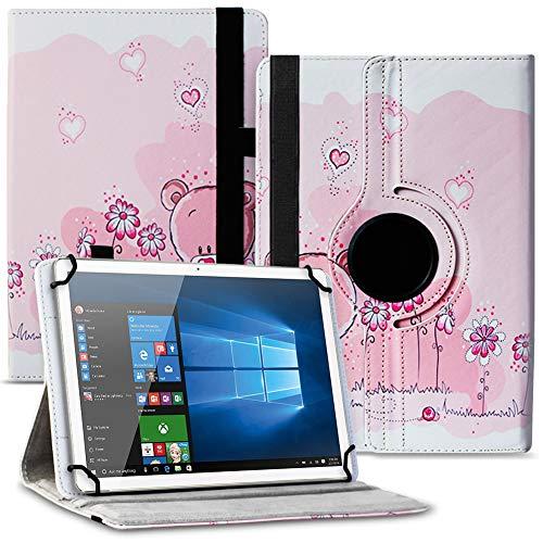 Tablet Hülle kompatibel für Xido Z120 Z110 X111 X110 Tasche Schutzhülle Hülle Cover aus Kunstleder Standfunktion 360° Drehbar, Farben:Motiv 1