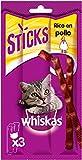 WHISKAS Premios en forma de sticks para gatos sabor pollo 18g (Pack de...