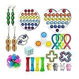XMYNB Juguetes Fidget Fidget Toys Anti Estrés Set Strings Strings Push Pack Paquete De Regalo Adultos Niños Squishy Sensory Antistress Alivio Figet Toys-BB