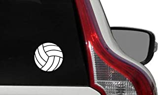 Volleyball Ball Car Vinyl Sticker Decal Bumper Sticker for Auto Cars Trucks Windshield Custom Walls Windows Ipad Macbook Laptop Home and More (WHITE)