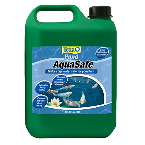 TetraPond AquaSafe 101.4 Ounces, Makes Tap Water Safe For Pond Fish