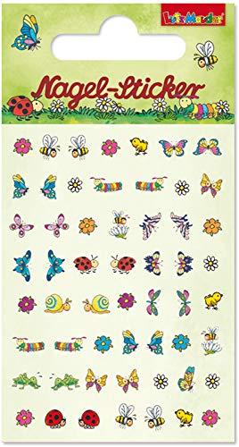 Mauder Verlag 56 Ohr- und Nagelsticker * SÜSSE Tiere * für Kinder und Erwachsene | Sticker Ohrsticker Mädchen Frühling