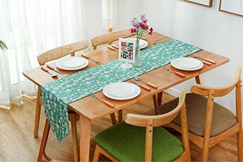 Chemin de Table Toile Jute Tableau-Drapeau Decor Mariage Fête Banquet Multi-Usages LAD-I , 30*220cm