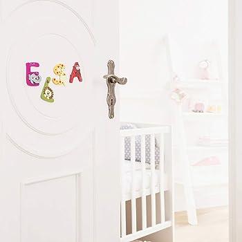 Holzbuchstabe A-Z set of 27 INDIGOS UG Schule f/ür Kinder und Babys zum Spielen Basteln und Sammeln Motiv Tiere f/ür das Kinderzimmer Kindergarten
