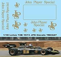 デカール 1/18 Lotus 72E 1972 1973 John Player Special Decals TB Decals TBD247