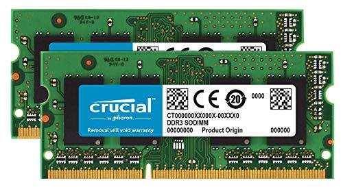 Crucial RAM 16GB Kit (2x8GB) DDR3 1600 MHz CL11 Memory for Mac CT2K8G3S160BM