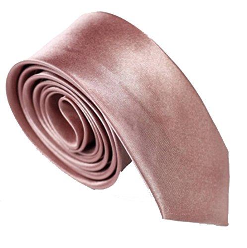 WS schmale dünne KRAWATTE Business Slim Tie Schlips schmal (altrosa)