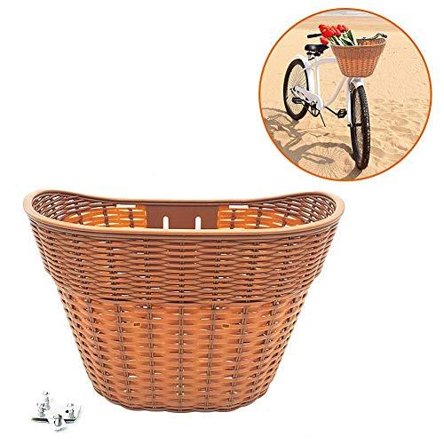 iBàste Panier de vélo étanche Panier de Rangement pour Guidon de vélo Anti-décoloration Conteneur de magasinage tissé à la Main