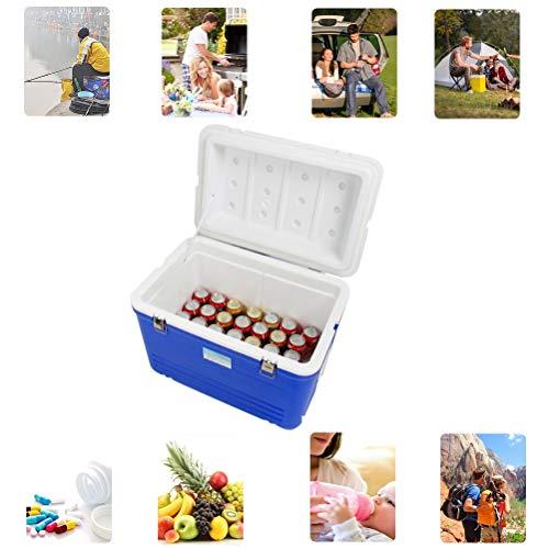 Picknick Im Freien Eiskübel Fahrzeug-Isolierbox Lange Isolierung Zeit Kälte Und Hitze Preservation - Gemüse, Obst, Bier Gefrorenes Auto-Haus Gefrierfach (Color : Blue, Size : 65L)