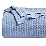 Bedsure 100% Cotton Thermal Blanket - 405GSM Premium Breathable Blanket in Waffle Weave for Home Decoration - Perfect...
