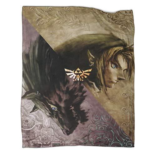 Xaviera Doherty Hairu Warrior Zelda Game Age of Disaster - Manta de franela (100 x 130 cm), suave y cómoda, regalo perfecto