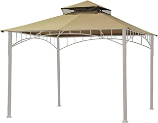 Eurmax 10FT x 10FT Double Tiered Gazebo Replacement Canopy Roof Top(Beige)