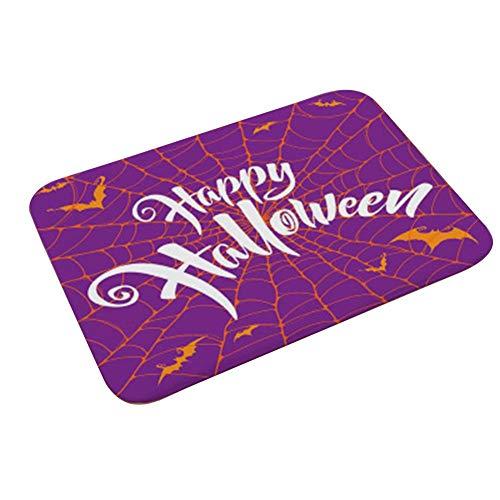 CAOLATOR Halloween Schmutzfangmatte Spinnennetz Fußmatte|Türmatte Fußabstreifer||Eingangsmatte|Küchenläufer| Sauberlauf-Matte| Türvorleger für Innen & Außen|Waschbare, rutschfeste|40 x 60 cm