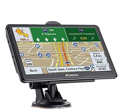 GPS Navigation for Car 7 inch Touch Screen 8GB&256MB GPS Navigation System Spoken Turn- to-Turn Traffic Alert Vehicle Car GPS Navigator Lifetime Free Map Updates