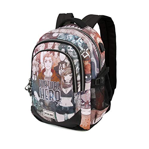 Karactermania Virtual Hero VH-Running HS Backpack Rucksack, 44 cm, 21 liters, Mehrfarbig (Multicolour)