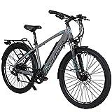 Hyuhome Bicicletas Eléctricas Para Adultos Hombres Mujeres, 27,5' E-bicicleta Montaña E-MTB 250W 36V 12.5Ah,Frenos Disco Dobles Shimano de 7 Speed