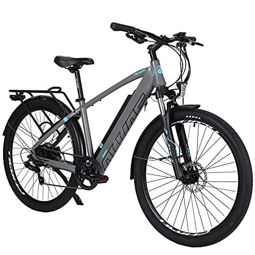 Hyuhome Elektrofahrräder für Erwachsene Herren Damen,250W 36V 12.5Ah Mountain E-MTB Fahrrad,27.5' Ebikes Full Terrain,Shimano 7 Gang Getriebe Doppelscheibenbremsen für Outdoor Pendler (250W12.5A, 720)