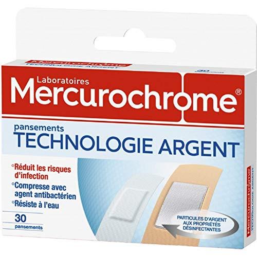 MERCUROCHROME - Pansements Technologie Argent 30 Pansements - Lot De 3