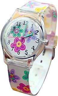 Hemobllo Children Analog Watches Cartoon Wrist Watch Quartz Watch for Children Boys Girls Birthday Gift (Flower)
