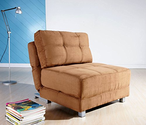 Gold Sparrow New York Convertible Chair Bed, Brown