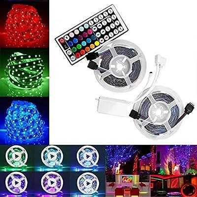 LED Strip Lights -10M SMD 3528 RGB 600 LED Colo...