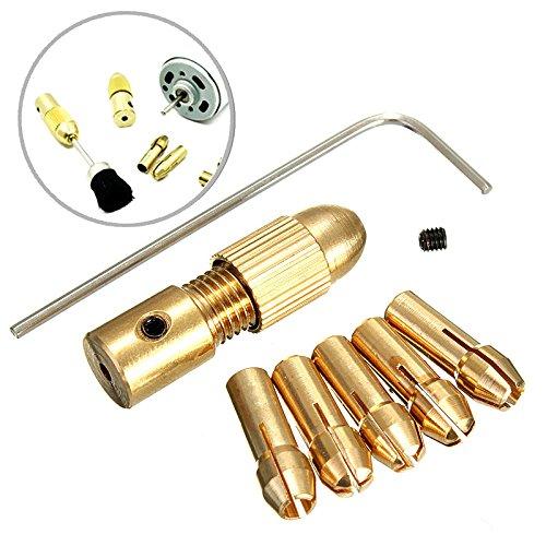 Ils - 8 stuks 0,5-3 mm kleine elektrische boor spantangen micro schroefboor boorhouder set met inbussleutel