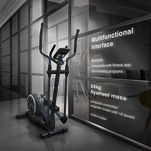 Sportstech Cross Trainers CX625/CX608 - German Quality Brand - Video Events & Multiplayer App + multifuctional display + with tablet holder - Eliptical trainer