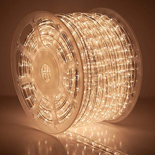 Dapang LED Rope Lights Waterproof Connectable Led Strip Lights for Indoor Outdoor Rope Lights Waterproof Decorative Lighting Backyards Garden and Party Decoration,150ft