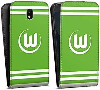 DeinDesign Flip Case kompatibel mit Samsung Galaxy J5 2017 Tasche Hülle VFL Wolfsburg Offizielles Lizenzprodukt Wappen