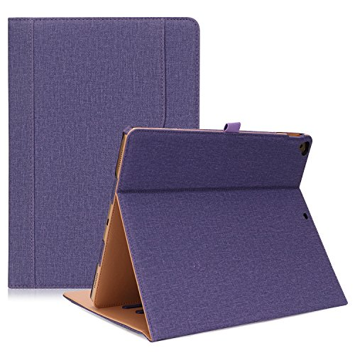 ProCase Apple iPad Pro 12.9 2017/2015 (Old Models) Case -Premium Leather Stand Folio Case Cover,with Apple Pencil Holder Auto Sleep/Wake, for iPad Pro 12.9 Inch -Purple