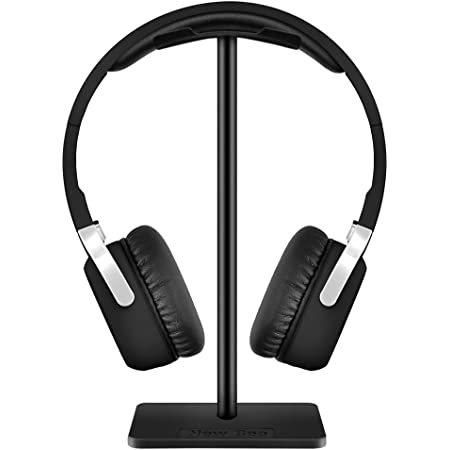 Kopfhörer Ständer New Bee Universal Kopfhörer Halter für Over Ear Kopfhörer, Gaming Headset und Kopfhörerdisplay, aus Aluminium + TPU + ABS Schwarz