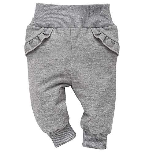 Pinokio – Unicorn – baby meisjesbroek/leggings grijs katoen pasgeborenen joggingbroek slaapbroek babybroek elastische tailleband maat 62-104