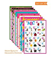Kids Educational Set of Posters. Non-tearable// Long Life // Washable// Non-Toxic Size: 12 inch x 18 inch Material: Thick Paper Color: Multicolour Package Contents: 10 Wall Sticker, Comes in safety tube for safe delivery High Quality Material And Lon...