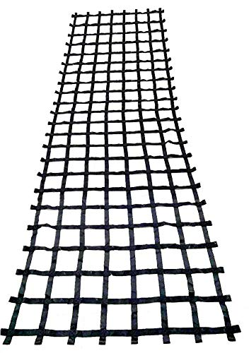FONG Climbing Cargo Net Black 20 ft X 6 ft - Indoor Climbing net - Outdoor Cargo Webbing Net - Military Climbing Cargo Net (20ft)
