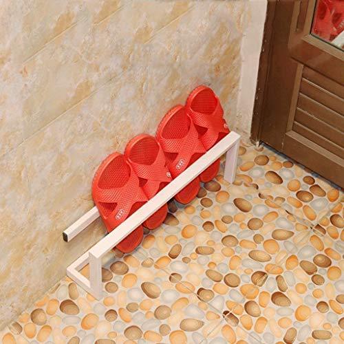 YLCJ Flexibele schoenenrek in klein strijkijzer, rack mini badkamer slippers voor huishouden, robuust en ruimtebesparend (Kleur: wit, Afmetingen: L58)