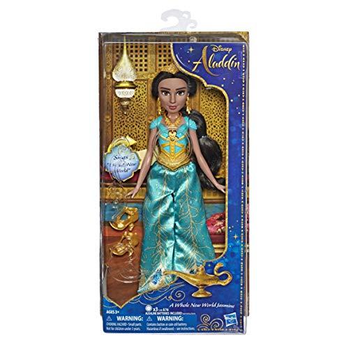 Hasbro Disney Princess- Jasmine Cantante con Vestito ed Accessori, Canta in Inglese, E5442EU4