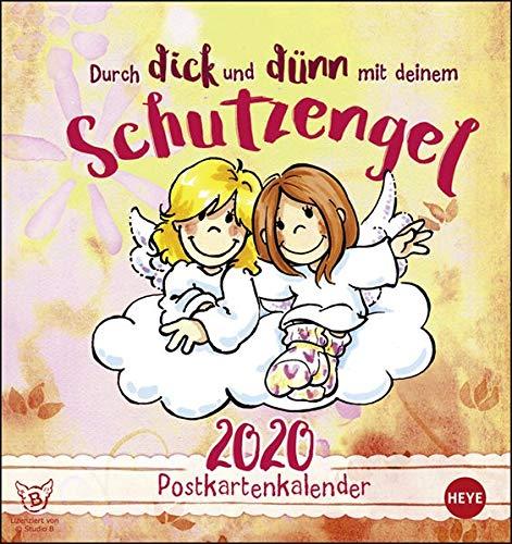 Schutzengel Postkartenkalender. Postkartenkalender 2020. Monatskalendarium. Spiralbindung. Format 16 x 17 cm