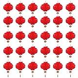 ENCO 30 Pezzi Lanterne Cinesi Rosse, Lanterne Cinesi Rosse Decorazioni da 7,87 Pollici, per Capodanno Cinese, Festival di Primavera, Matrimoni, Decorazioni per Ristoranti