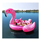 Giant Inflatable Pink Flamingo Float Large Lake Float Inflatable Float Island Water Toys Pool Fun Raft Party Bird Island