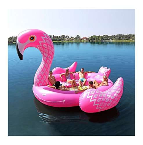 Giant Inflatable Pink Flamingo Float Large Lake Float Inflatable Float Island...
