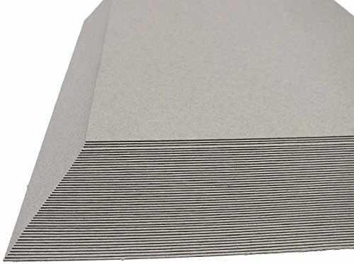 50 St. Maschinengraukarton DIN A2 400 g/qm Graukarton Unterlegkarton natur ca 0,6 mm stark