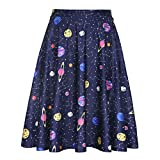 HDE Outer Space Galaxy Skirts for Women Universe Constellation Skirt (Size: XX-Large)