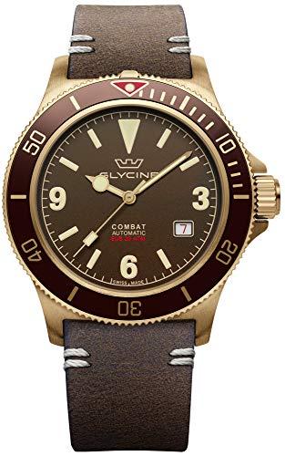 Combat vintage orologio Uomo Analogico Automatico con cinturino in Pelle di vitello GL0267
