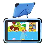 Kids Tablet 7 Inch WiFi Android 10 Tablet PC 2021 New IPS HD Screen, 2GB RAM 32GB ROM, Parental Control Tablet for Children,Toddler Learning Tablet Kid-Proof Case with Stand (Blue)