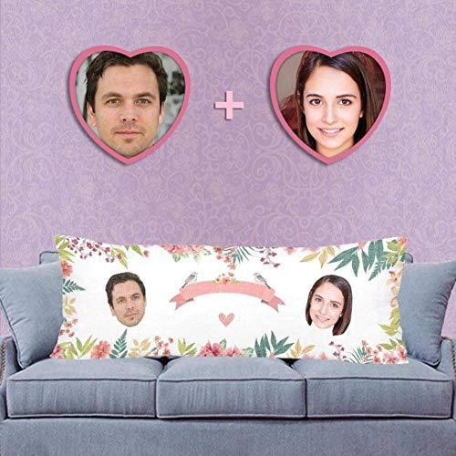 Funda de almohada larga personalizada para regalo de Navidad 53,3 x 152,4 cm