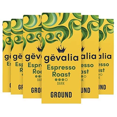 Gevalia Espresso Dark Roast Ground Coffee (12 oz Bags, Pack of 6)