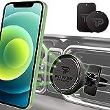Power Theory Magnet Handyhalterung Auto - KFZ Handyhalter in Carbon Optik mit Stärkeren Magneten & verbesserter Klemme für iPhone 12 11 Pro Max XS X XR SE2 8 Plus 7 6 6s Samsung S20 S10+ S9 S8 S7 S6
