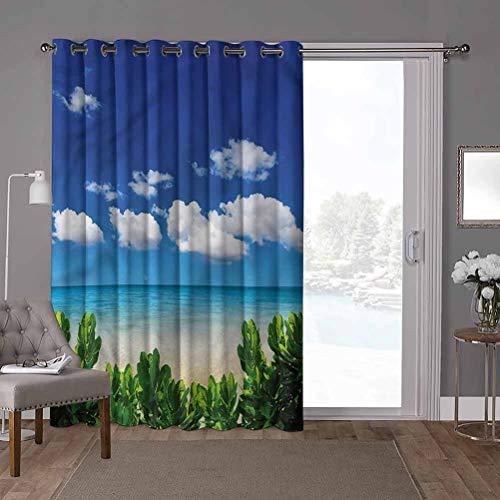 YUAZHOQI cortinas correderas de cristal para puerta, trópicas, plantas tropicales de agua transparente, 52 cm de ancho x 84 pulgadas de largo persiana vertical para sala de estar (1 panel)