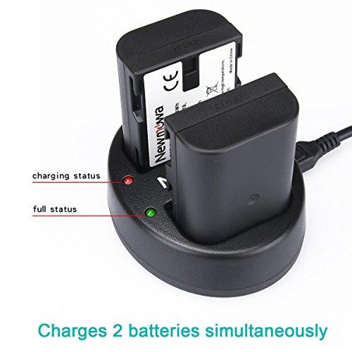 Newmowa Dual USB Charger for Panasonic DMW-BLF19 and Panasonic DMC-GH3,DMW-GH4